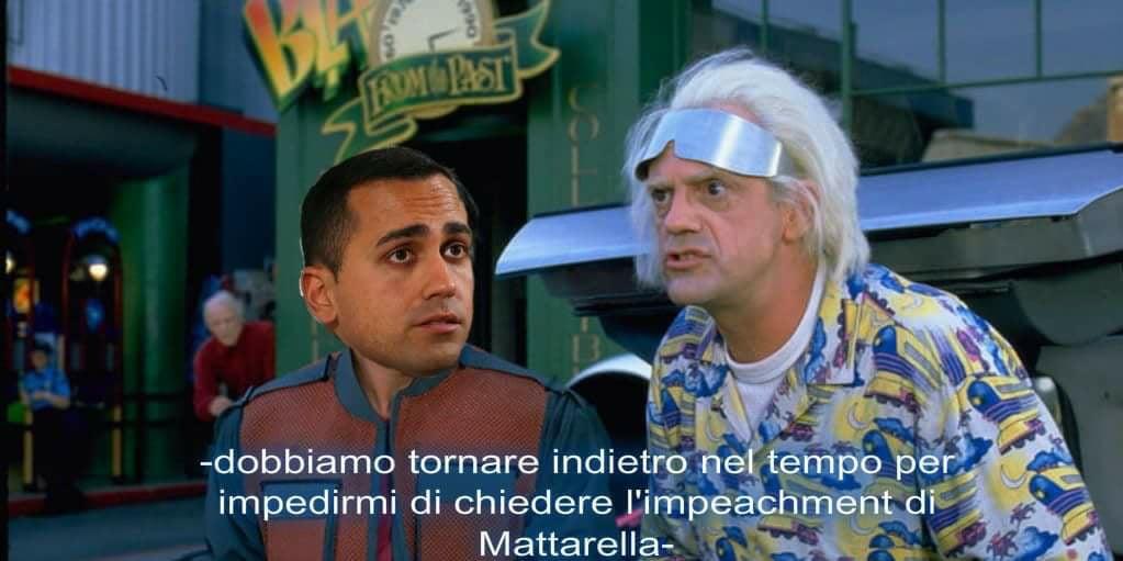 meme di maio mattarella italia ritorno al futuro