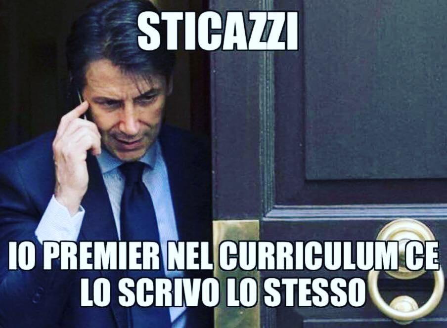 meme finale giuseppe conte governo italia 2018