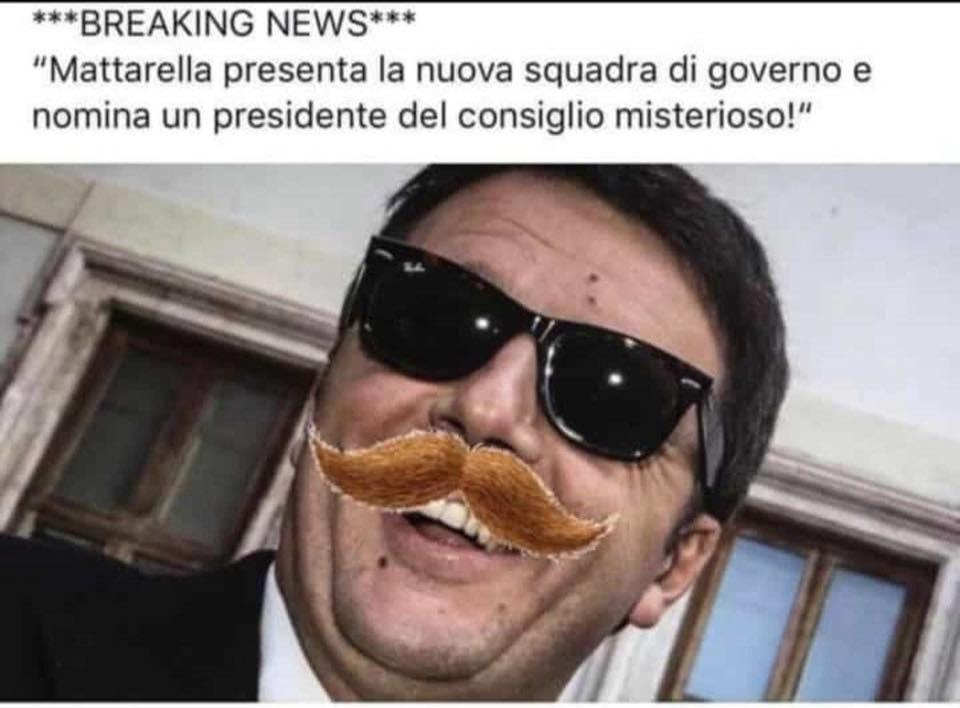 meme renzi mattarella governo italia